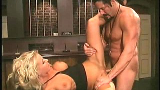Kody fucks a handsome guy while a hot blonde is spying on them