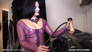 Milking machine handjob