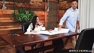 Veronica Rayne fucked well in her office by a handsome man