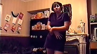 Drunk and Stripping out of purple dress for neighbour