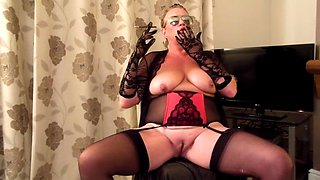 big tit milf smoking striptease