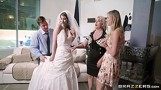 Bride Karina in high heels missionary smashed hardcore