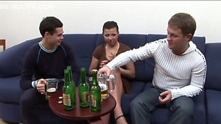 Drunk Fuck with 2 Boys