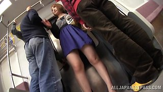 Gorgeous Asian Babe Gets Gangbanged Out In Public In The Subway