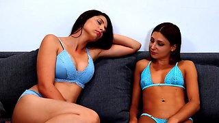 Hot Lesbians Wrestling Panty Domination Scissoring K.O