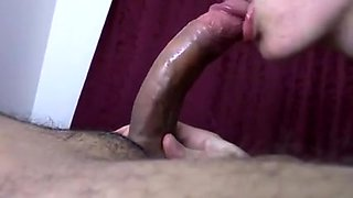 Masked Girl Sucks Dick and Eats Sperm