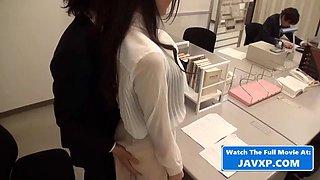 Asian milf used by coworkers, japanese jav
