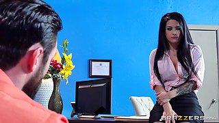 horny secretary katrina jade is seducing her boss