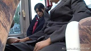 Innocent Schoolgirl Has A Shameful Bus Ride