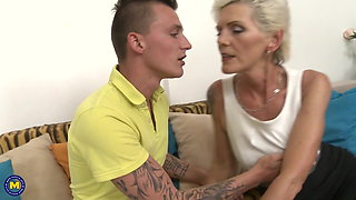 Family sex with beautiful mature moms