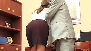 Boss punish Secretary for the loss of documents.