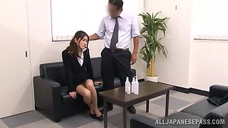 Asian Cutie Tired At Work