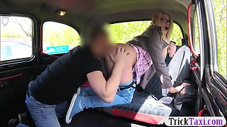 pretty blonde gave up her ass to nasty driver in the cab
