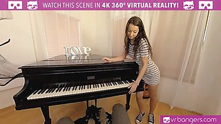 VR PORN - Horny student fucks her piano teacher