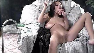 Anastasia Braun smoking fetish slow motion fantasy