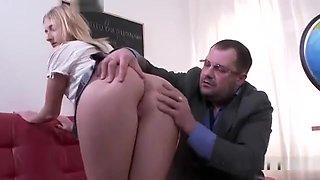 Innocent Schoolgirl Gets Seduced And Nailed By Her Elder Tea