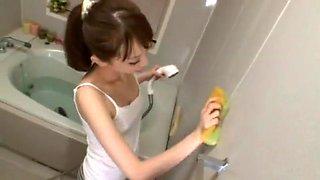 Fabulous Japanese chick Aya Kisaki in Incredible Couple, Blowjob JAV video