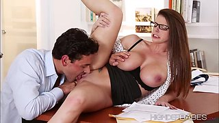 Hot ###ary ###oklyn fucks the boss stiff cock
