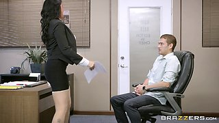 Wife with big ass getting ravished hardcore in the office