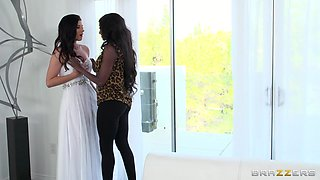 Ebony Bitch Fucks The Bride