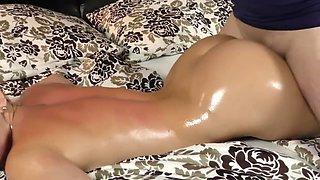 Erotic massage turns into big asscheeks fucking and huge cumshot!