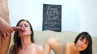 pretty girls having great time in the hot foursome
