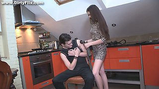 Russian bitchy girlfriend Margarita C Peachy makes her boyfriend cuckold