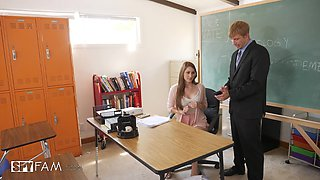 Amazing classroom pussy smashing with his darling Nina Skye