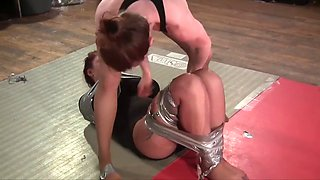 Duct tape bondage wrestling march 2014