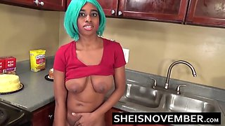 horny step sister msnovember fucks her bro in kitchen sex
