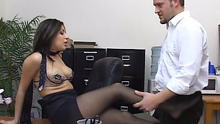 sativa rose fucked at the office