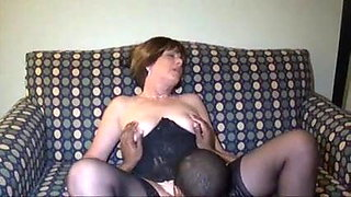Black man fucks Brunette Granny