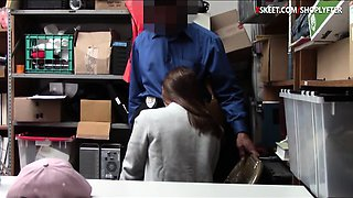 Cute thief caught stealing and pounded in LP office