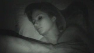 Randy cock sucking bitch gets her cunt fucked  banged on night time cam