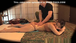 Asian Housewife Gets Oiled And Fucked Hard After A Massage