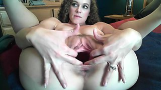 gaping fisting cervix show