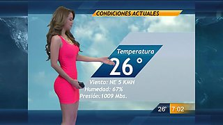 Unforgettable body of the hot Mexican weather girl