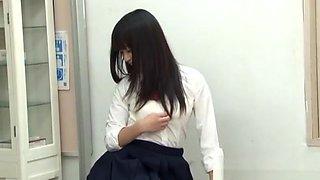 Japanese AV model is a horny teen in position 69