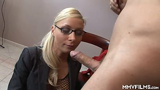 Big breasted Helena Sweet turns interview into a splendid fuck