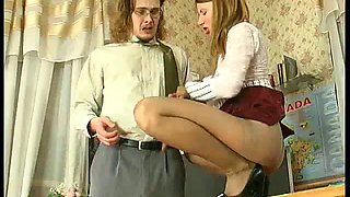 Alice in pantyhose fuck
