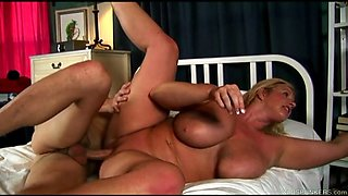 beautiful big tits blond old spunker enjoys a facial cumshot