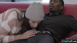 Student Avi Love gives head and gets fucked by black teacher