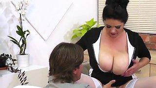 Big boobs office sex