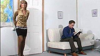 Esther and Gilbert kinky mom on video