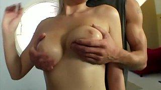 Armani St. James licks her BF's balls and gets stunningly fucked