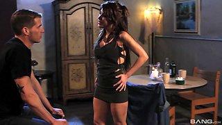 Dick starved brunette Alexa Nicole sucks on a big dick
