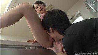 hot kitchen sex session with lovely japanese babe takita eriko