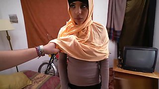 Muslim head scarf and arab defloration and young arab teen and horny