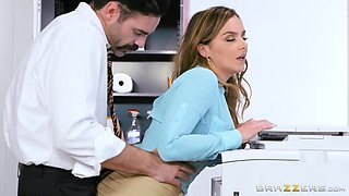Busty secretary Natasha Nice was the perfect choice for that position