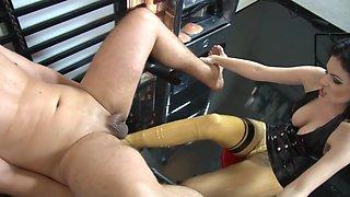 Mistress latex footing
